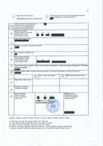 Certificado de defunción belga