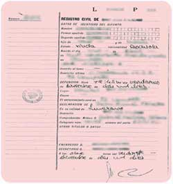 original Death Certificate